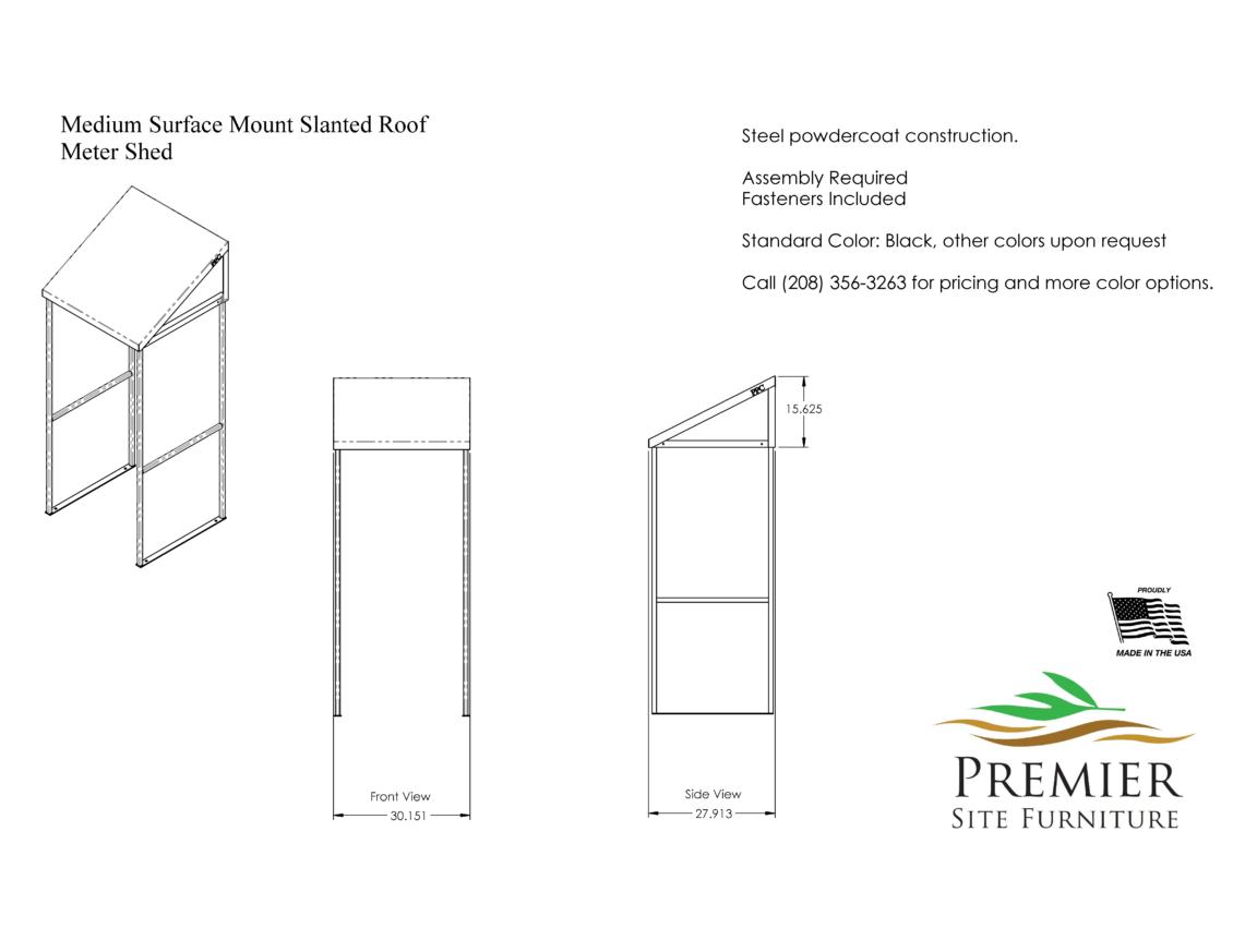 Slanted Roof Meter Shed